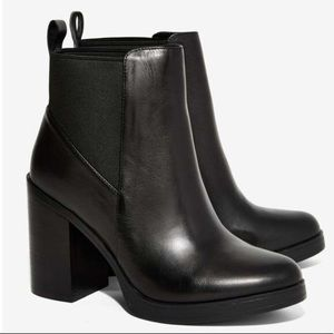Black Leather Steve Madden Booties